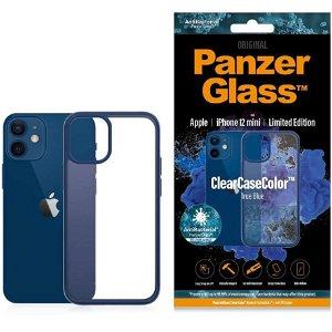 iPhone 12 Mini Deksel PanzerGlass ClearCase Antibakteriel - Blå Kant