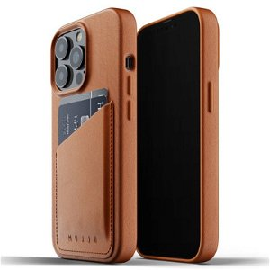Mujjo iPhone 13 Pro Vegan Leather Wallet Deksel - Brun