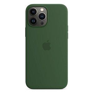 Original Apple iPhone 13 Pro Max Magsafe Silikondeksel Kløvergrøn (MM2P3ZM/A)
