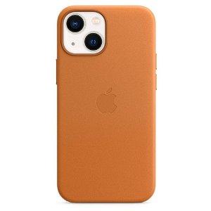 Original Apple iPhone 13 Mini Skinn MagSafe Deksel Gyllenbrun (MM0D3ZM/A)