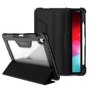 "iPad Pro 11"" Nillkin Skinn Bumper Deksel m. Fleksibel Skjermbeskytter - Svart"