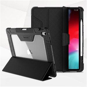 "iPad Pro 12.9"" (2018) Nillkin Skinn Bumper Deksel m. Fleksibel Skjermbeskytter - Svart"