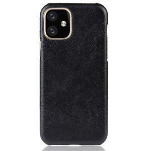 iPhone 11 Pro Svart Skinn Belagt Deksel