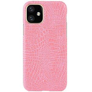 iPhone 11 Pro Skinndeksel m. Krokodillemønster Pink