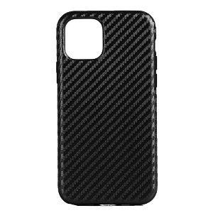 iPhone 11 Pro Skinn Belagt Carbon Deksel - Svart