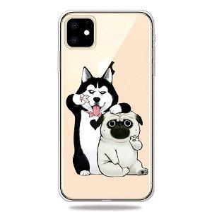 iPhone 11 Fleksibel Plastik Deksel m. To Hunder
