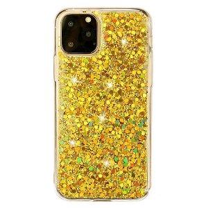 iPhone 11 Pro Plastik Deksel m. Glimmer - Gull