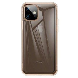 iPhone 11 Baseus Airbag Fleksibelt Deksel Gjennomsiktig/Gull