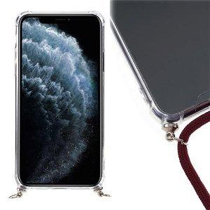 iPhone 11 Pro Fleksibel Plastik Deksel m. stropp - Rød