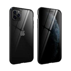 iPhone 11 Pro 360° Magnetisk Deksel med Glassbakside og Forside m. Privacy funksjon - Svart