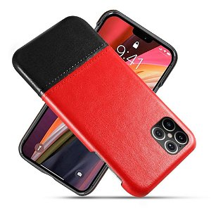 iPhone 12 Pro Max Skinn Bakdeksel - Rød / Svart
