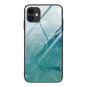 iPhone 12 Mini Bakdeksel m. Glass Bak - Grønt Hav