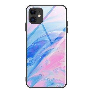 iPhone 12 Mini Bakdeksel m. Glass Bak - Flytende Farger