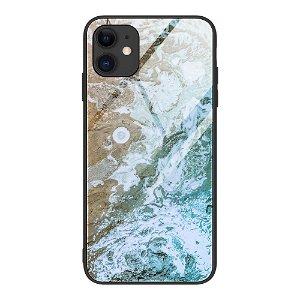 iPhone 12 Mini Bakdeksel m. Glass Bak - Strand