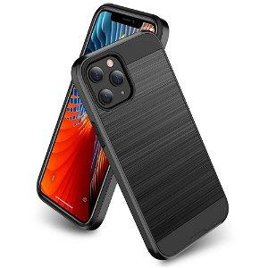 iPhone 12 / 12 Pro Plast Deksel med Metallutseende - Svart