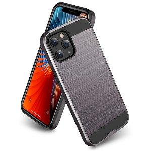 iPhone 12 / 12 Pro Plast Deksel med Metallutseende - Sølv