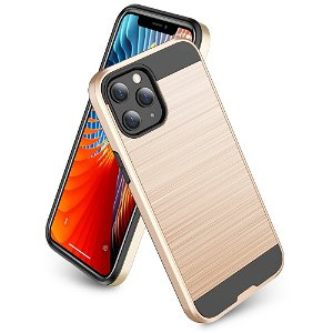 iPhone 12 Mini Plast Deksel med Metallutseende - Gull