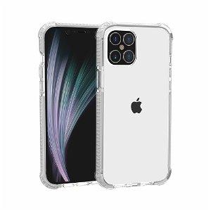 iPhone 12 Pro / 12 Plast Deksel Hybrid - Gjennomsiktig / Hvit