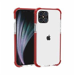 iPhone 12 Pro / 12 Plast Deksel Hybrid - Gjennomsiktig / Rød