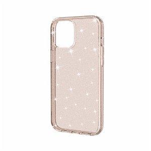 iPhone 12 / 12 Pro Deksel med Glimmer - Gennemsigtig / Gull