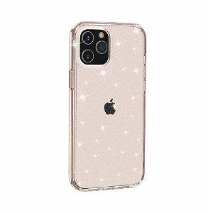 iPhone 12 Pro Max Deksel med Glimmer - Gjennomsiktig / Gull