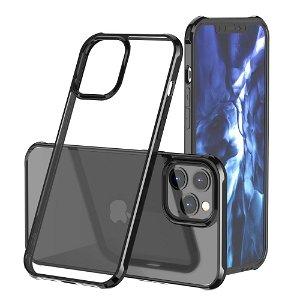 iPhone 12 Mini Hybrid Plastdeksel - Gjennomsiktig / Svart