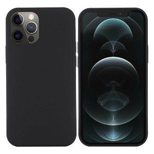 iPhone 12/12 Pro Silikondeksel Svart MagSafe