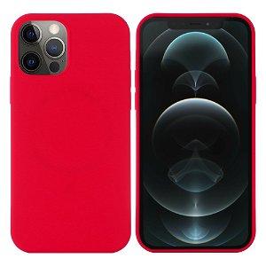 iPhone 12 / 12 Pro Silikondeksel Rød MagSafe