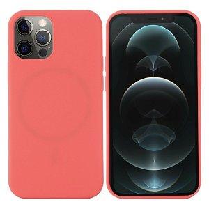iPhone 12 / 12 Pro Silikondeksel Varm Rosa MagSafe