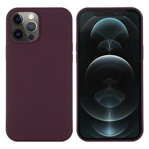 iPhone 12 / 12 Pro Silikondeksel Mørk Rød MagSafe