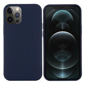 iPhone 12 / 12 Pro Silikondeksel Mørk Blå MagSafe