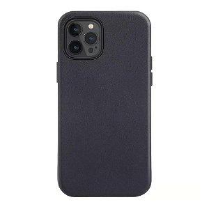 iPhone 12 Pro Max deksel PU Skinn - Kompatibel med MagSafe - Svart