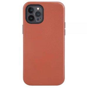 iPhone 12 Pro Max deksel PU Skinn - Kompatibel med MagSafe - Brun