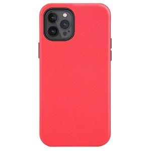 iPhone 12/12 Pro Skinn Deksel - MagSafe Kompatibel - Rød