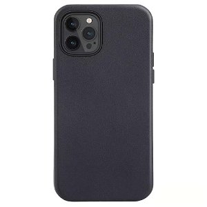 iPhone 12 / 12 Pro MagSafe Kompatibel Deksel - Skinn - Svart