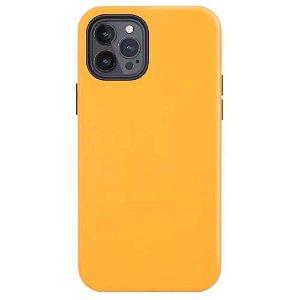 iPhone 12 / 12 Pro MagSafe Kompatibel Deksel - Skinn - Oransje