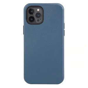 iPhone 12/12 Pro deksel Skinn - Kompatibel med MagSafe - Blå