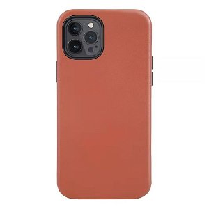 iPhone 12/12 Pro Deksel Skinn - MagSafe Kompatibel - Brun