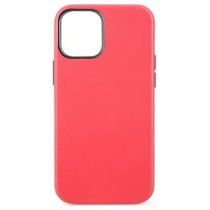iPhone 12 Mini MagSafe Kompatibel Deksel - Skinn - Rød