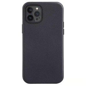 iPhone 12 Mini MagSafe Kompatibel Deksel - Skinn - Svart