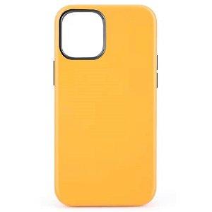 iPhone 12 Mini MagSafe Kompatibel Deksel - Skinn - Gul