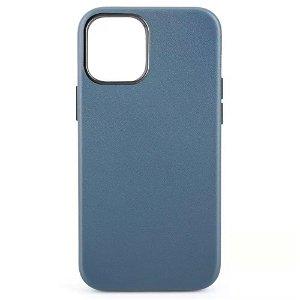 iPhone 12 Mini MagSafe Kompatibel Deksel - Skinn - Blå