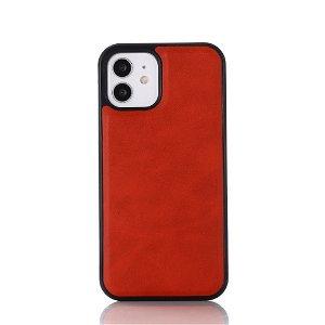 iPhone 12 / 12 Pro Polstret Deksel i Skinn - MagSafe Kompatibel - Rød