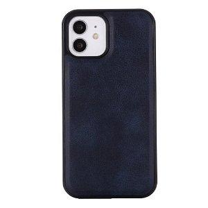 iPhone 12/12 Pro Polstret lærdeksel - MagSafe-kompatibel - Mørkeblå