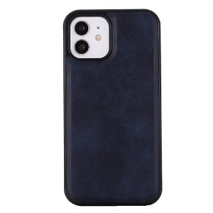 iPhone 12 Pro Max plastdeksel skinnpolstret - MagSafe Kompatibel - Mørkeblå