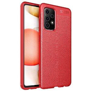 Samsung Galaxy A52s (5G) / A52 (4G / 5G) Fleksibel plastdeksel Litchi Tekstur - Rød