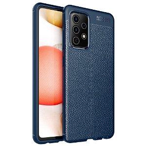Samsung Galaxy A52s (5G) / A52 (4G / 5G) Fleksibel plastdeksel Litchi Tekstur - Blå