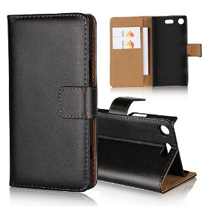 Sony Xperia XZ1 Compact Slim Wallet Case med Lommebok Svart