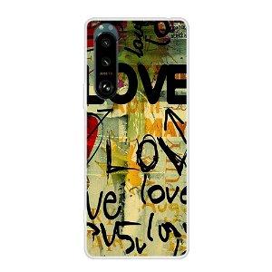 Sony Xperia 5 III Fleksibelt Plastdeksel - Love Maleri