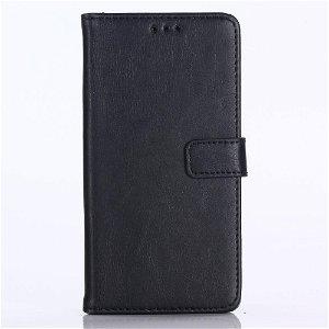 Huawei P20 Lite (2018) Skinn Deksel m. Lommebok - Svart